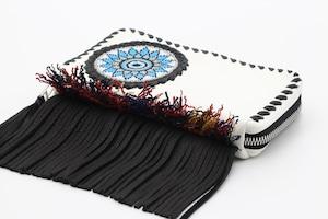 004 / ビーズ刺繍フリンジウォレット