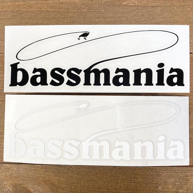 bassmaniaロゴカッティングシート M  [H5.5×W17.5]