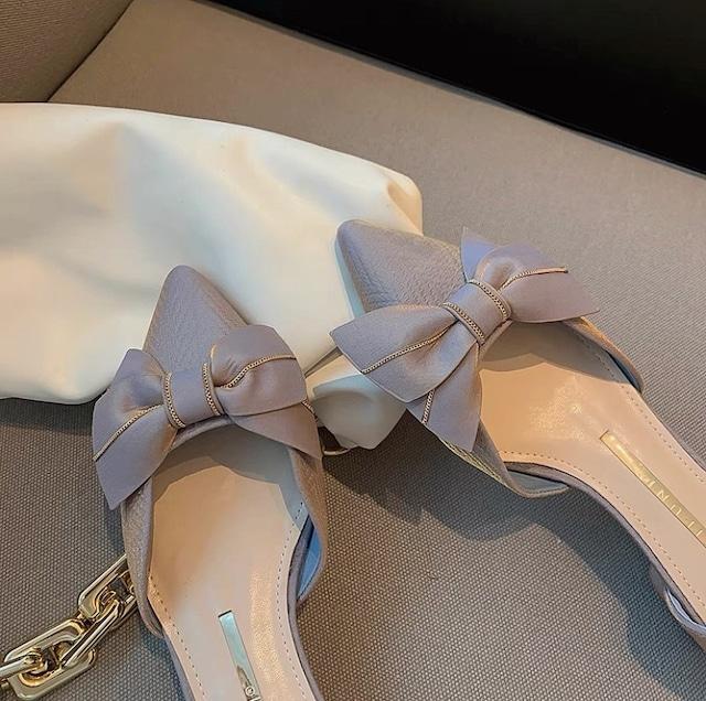 vintage ribbon shoes 2color