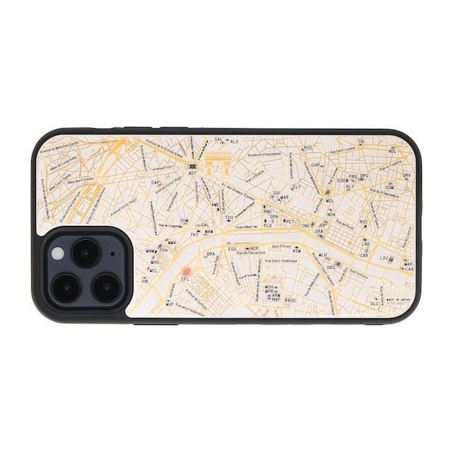 FLASH Paris回路地図 iPhone 12 / 12 Pro ケース  白【東京回路線図A5クリアファイルをプレゼント】