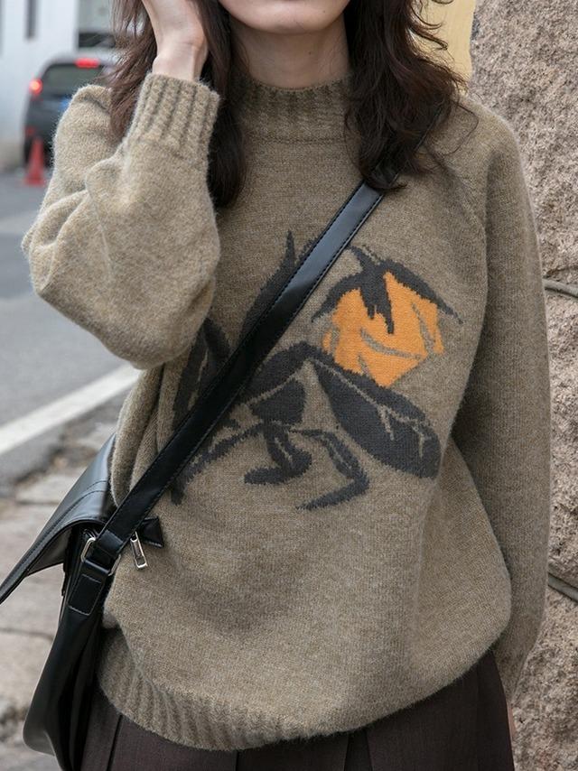 Rose design sweater (ローズデザインセーター)a-935