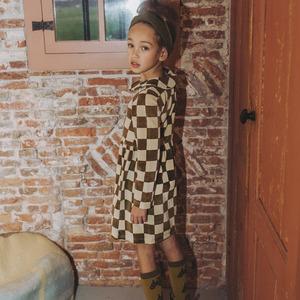 (20AW】カーラインク(CARLIJNQ)checkers skater dress ワンピース ブロックチェック