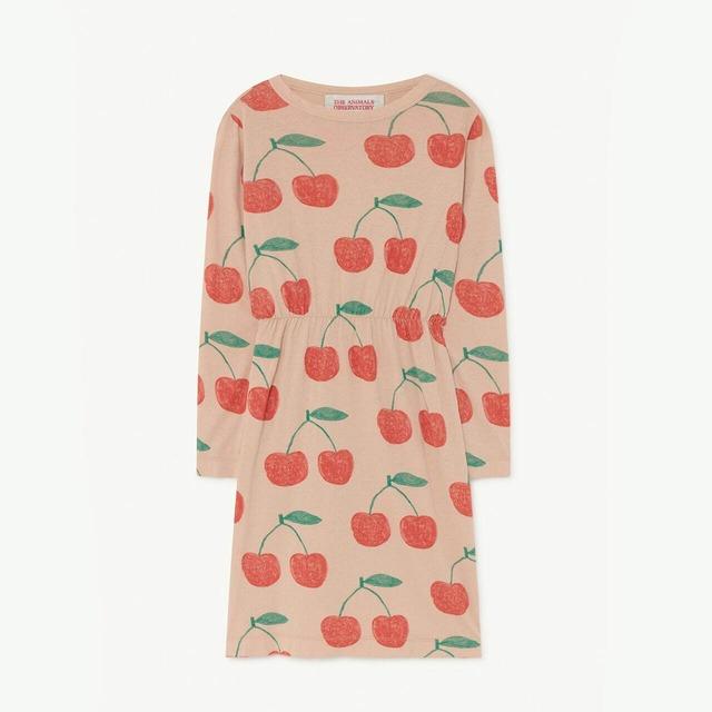 «sale»«即納» THE ANIMALS OBSERVATORY / TAO / Soft Pink Cherries Crab Dress