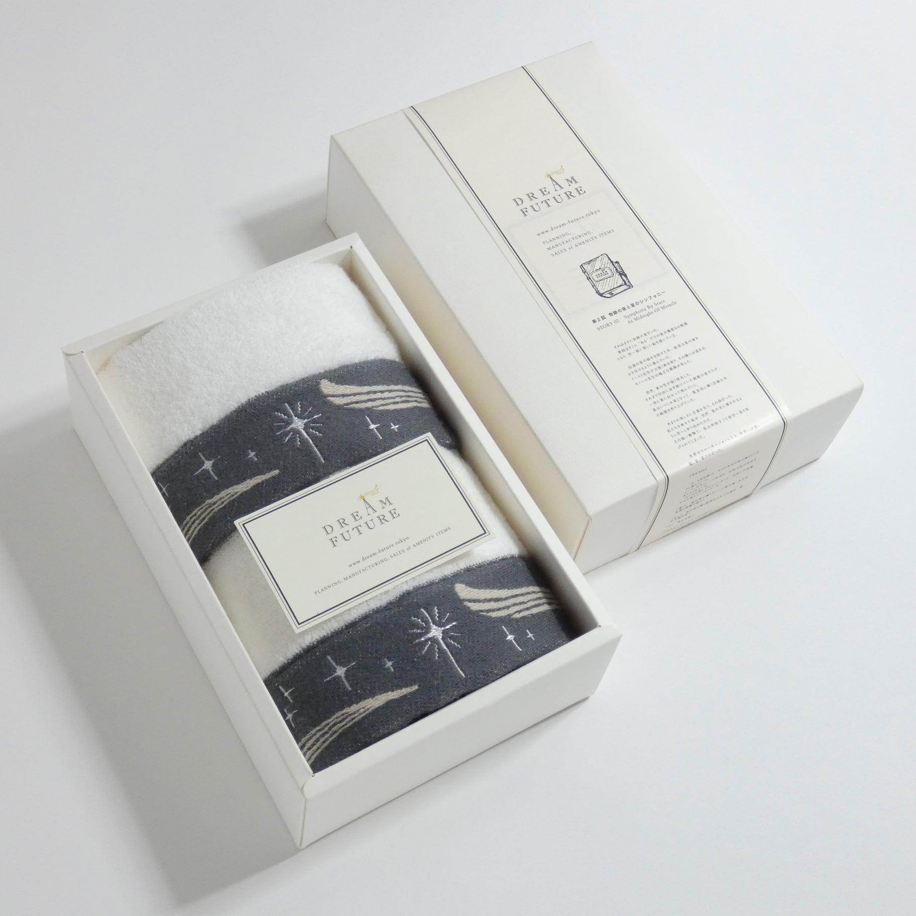 無撚糸(むねんし)高級Hand Towel 2枚SET Twinkle GRAY /  Twinkle GRAY