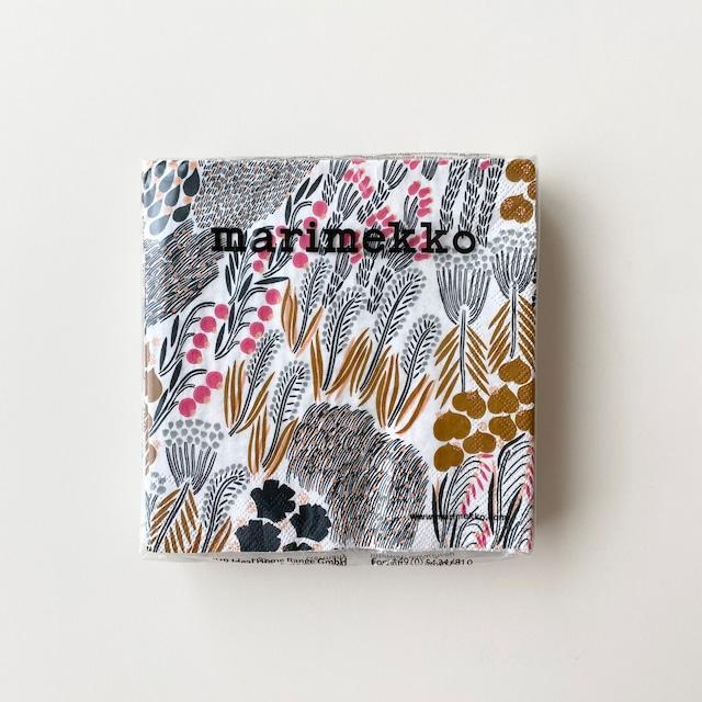 【marimekko】カクテルサイズ ペーパーナプキン PIENI LETTO ライトブラウン 20枚入り
