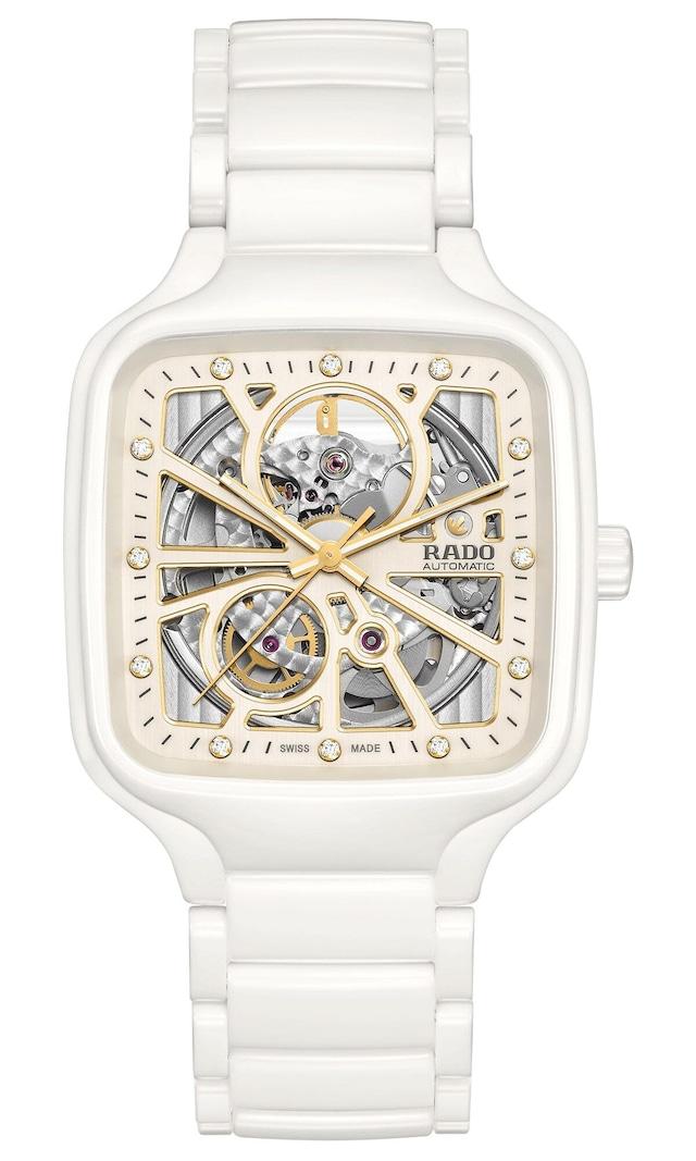 【RADO ラドー】True Square Automatic Open Heart トゥルースクエア オープンハート(ホワイト)/国内正規品 腕時計
