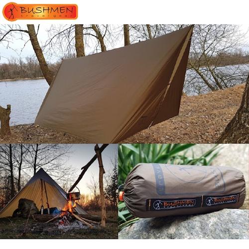 BUSHMEN ブッシュメン Trap ULTRALIGHT 3×3 ハンモック 超軽量 カラビナ パラシュート 耐水 レスキューシート タープ 自然派 キャンプ アウトドア