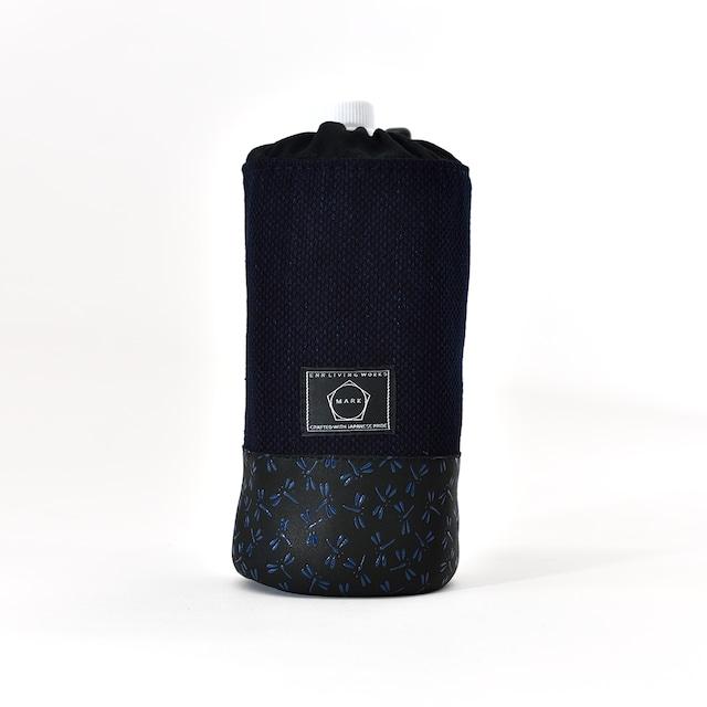 印伝×藍染め ペットボトルホルダー