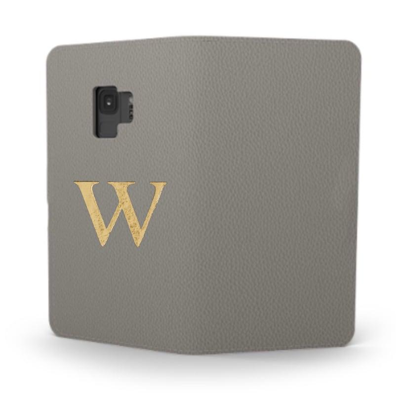 Galaxy Premium Smooth Leather Case (Concrete Grey) : Book Cover