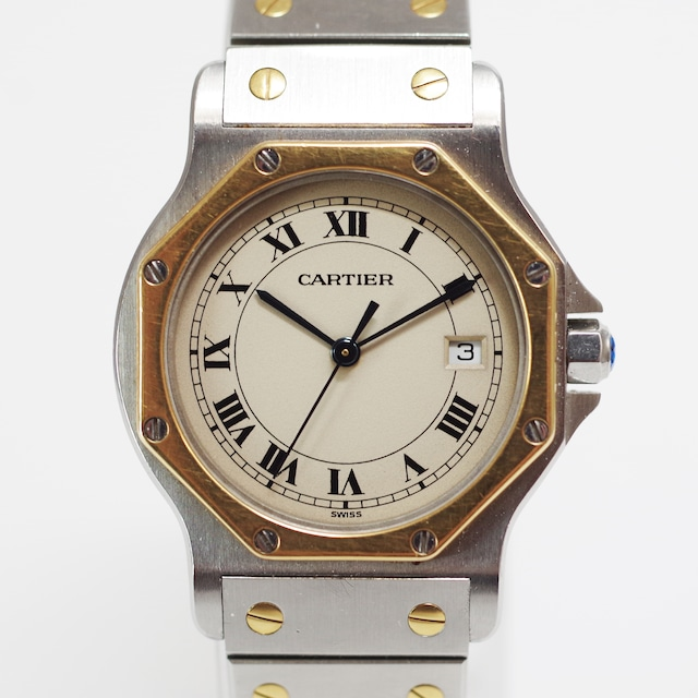 Cartier カルティエ サントスオクタゴン クオーツ ホワイト レディース 腕時計