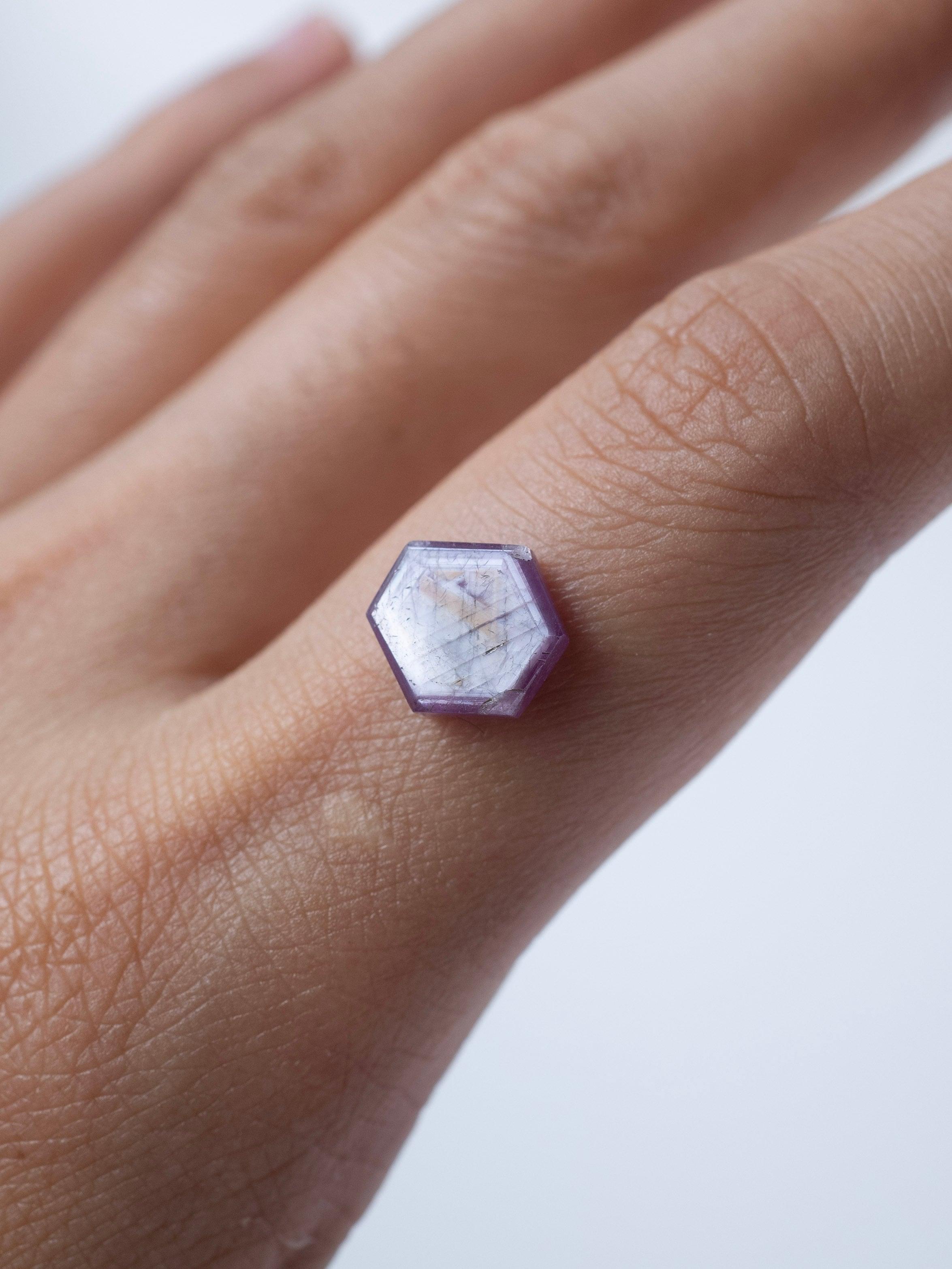 Hexagon Pink Sapphire -010