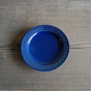 感器工房 波佐見焼 翔芳窯 ローズマリー リムプレート 皿 約18cm ブルー 332730