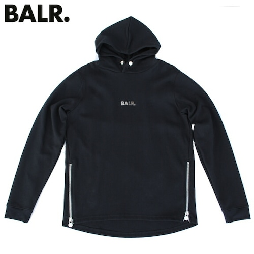 BALR ボーラー パーカー スウェット プルオーバー 長袖 メンズ Q-SERIES STRAIGHT CLASSIC HOODIE BLACK