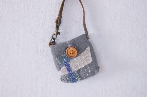 spica.g collage  ポケット鞄 ねずみ色