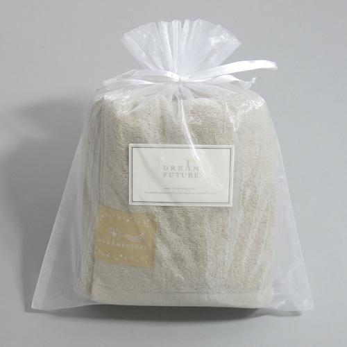 無撚糸(むねんし)高級Bath Towel Star Beige(ベージュの癒し) オーガンジー巾着入り