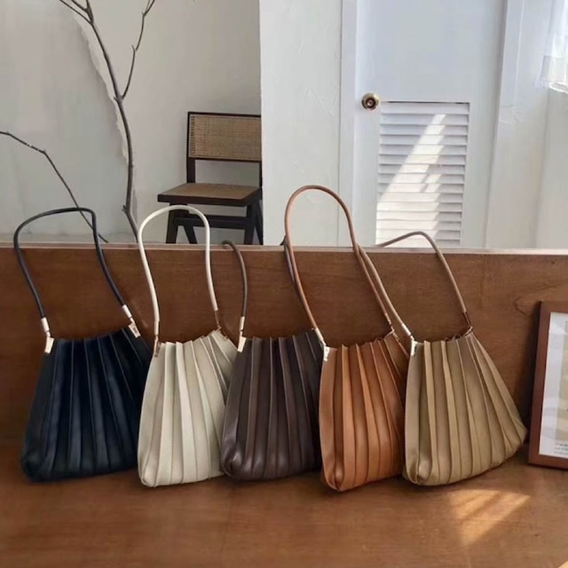 Accordion pleated tote bag  5color /  KRE037