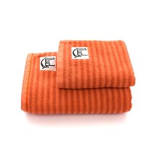 オレンジボーダータオルset 贈答袋付き