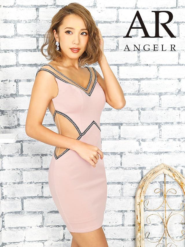 【AngelR】ウエストバックシアーデザインタイトミニドレス(AR9820)