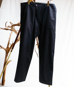 JAN JAN VAN ESSCHE - Loose fit workwear stule trousers out of overlapping rectangular pattern piece - TROUSERS#43