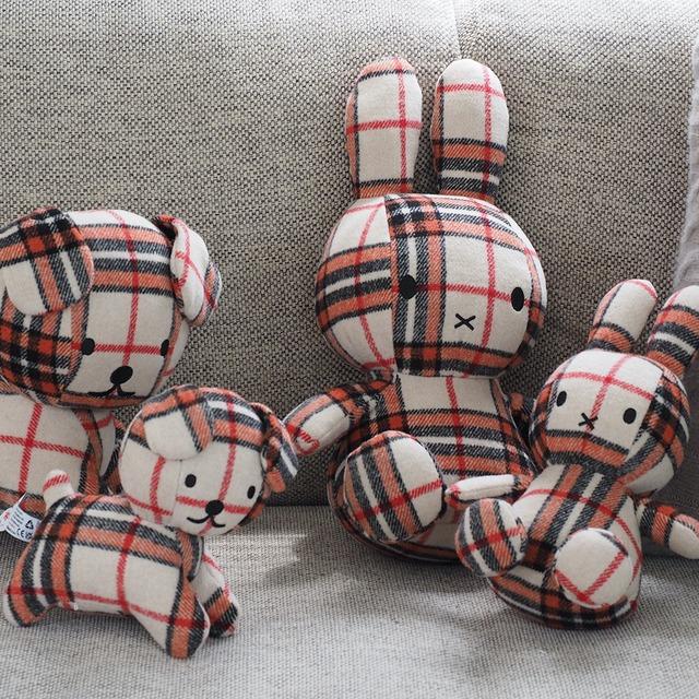 【BON TON TOYS】Miffy Check 23cm red/cream  【10/25発売】