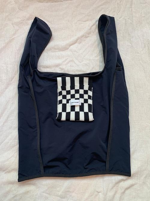 LASTFRAME ICHIMATSU POCKET REVERSE MARKET BAG (Black x (Black x Ivory))