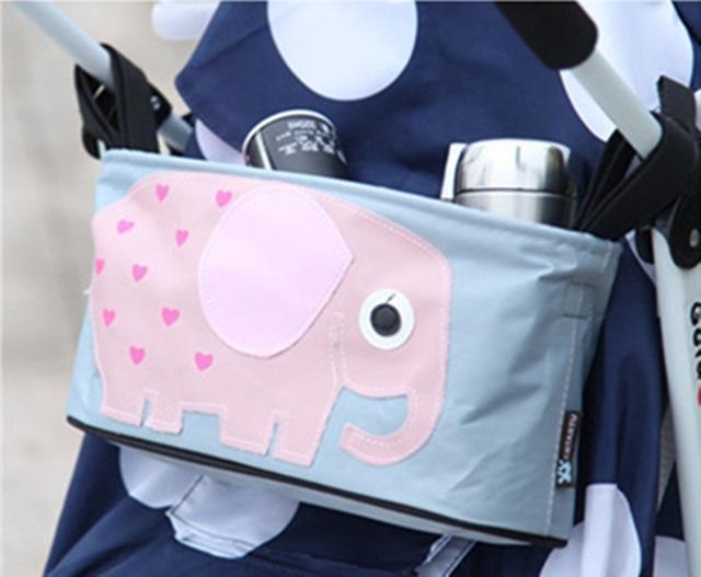 【即納】多機能収納 ベビーカーバッグ【ゾウ】S502