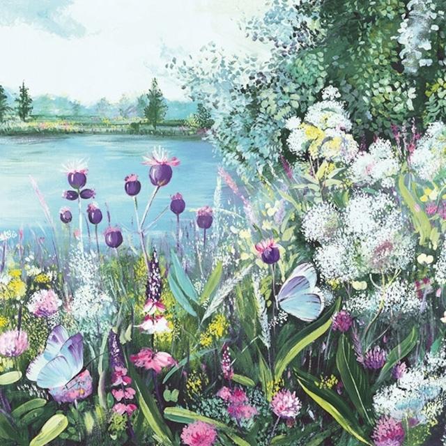 【Ambiente】バラ売り2枚 ランチサイズ ペーパーナプキン Lake View グリーン