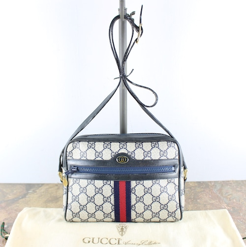 .OLD GUCCI GG PATTERNED SHERRY LINE SHOULDER BAG MADE IN ITALY/オールドグッチGG柄シェリーラインショルダーバッグ2000000056883