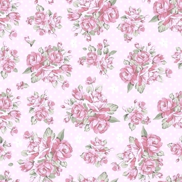 【Daisy】バラ売り2枚 ランチサイズ ペーパーナプキン Rose on Pink Background ピンク