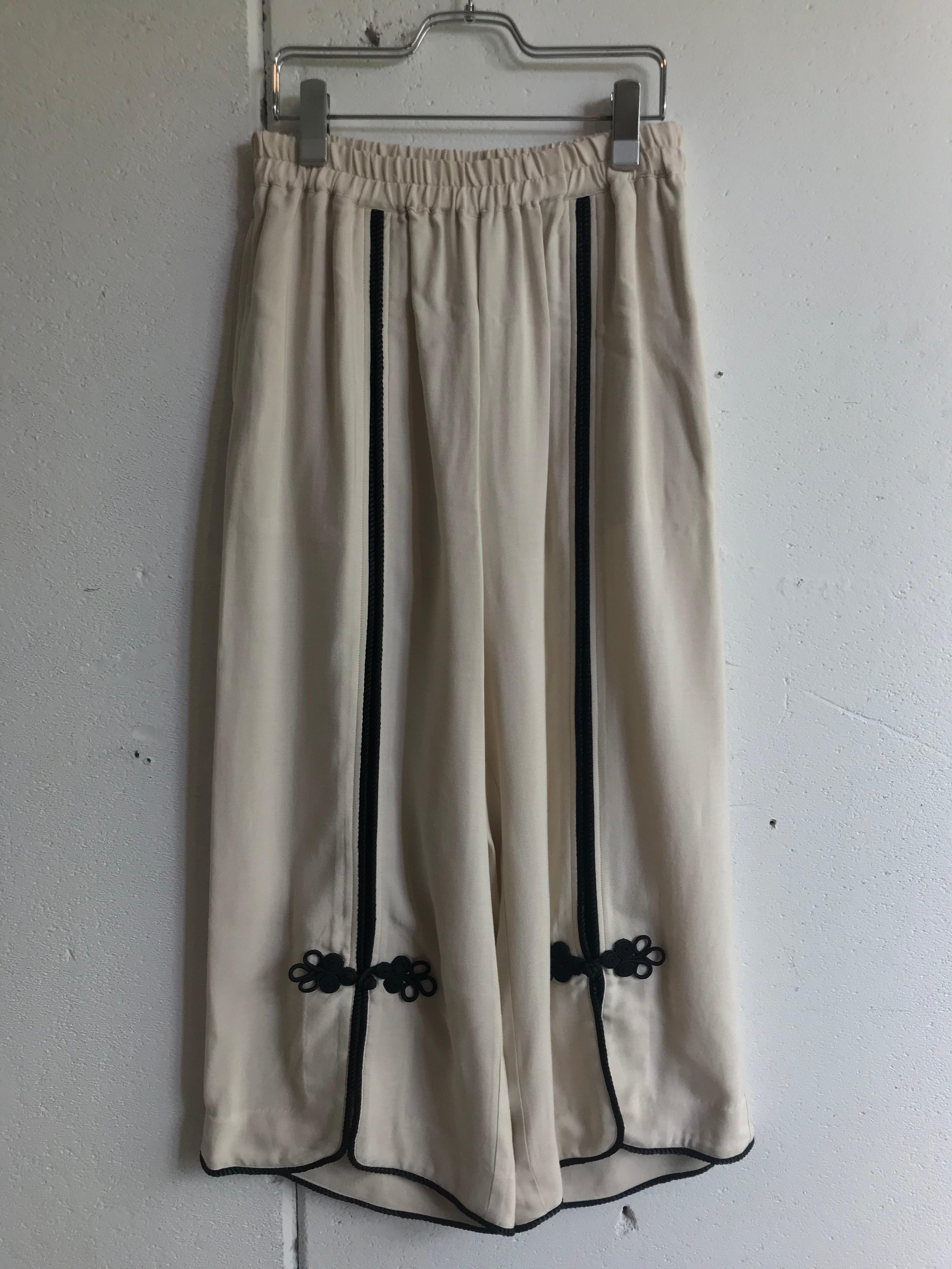 FUMIE=TANAKA    center piping pants