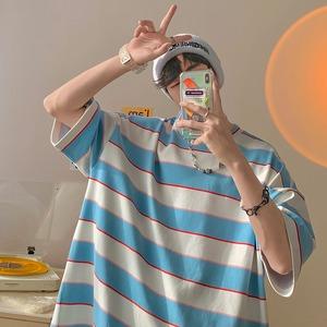 カラーボーダーTシャツ YH9789