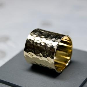 真鍮フラットリング 18.0mm幅 槌目 3号~27号|WKS FLAT RING 18.0 bs hammer|FA-379