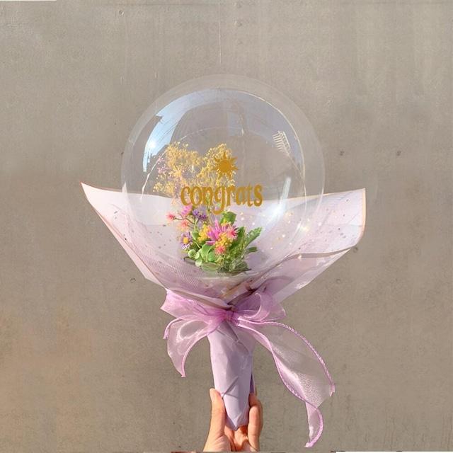 BALLOON FLOWER BOUQUET - rapunzel - ラプンツェルモデル