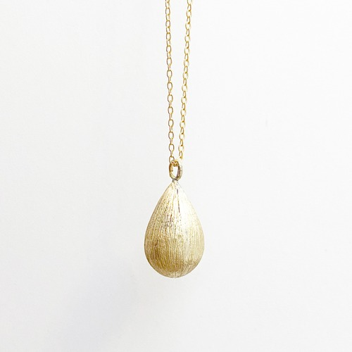 Satin teardrop necklace-LONG NC-041