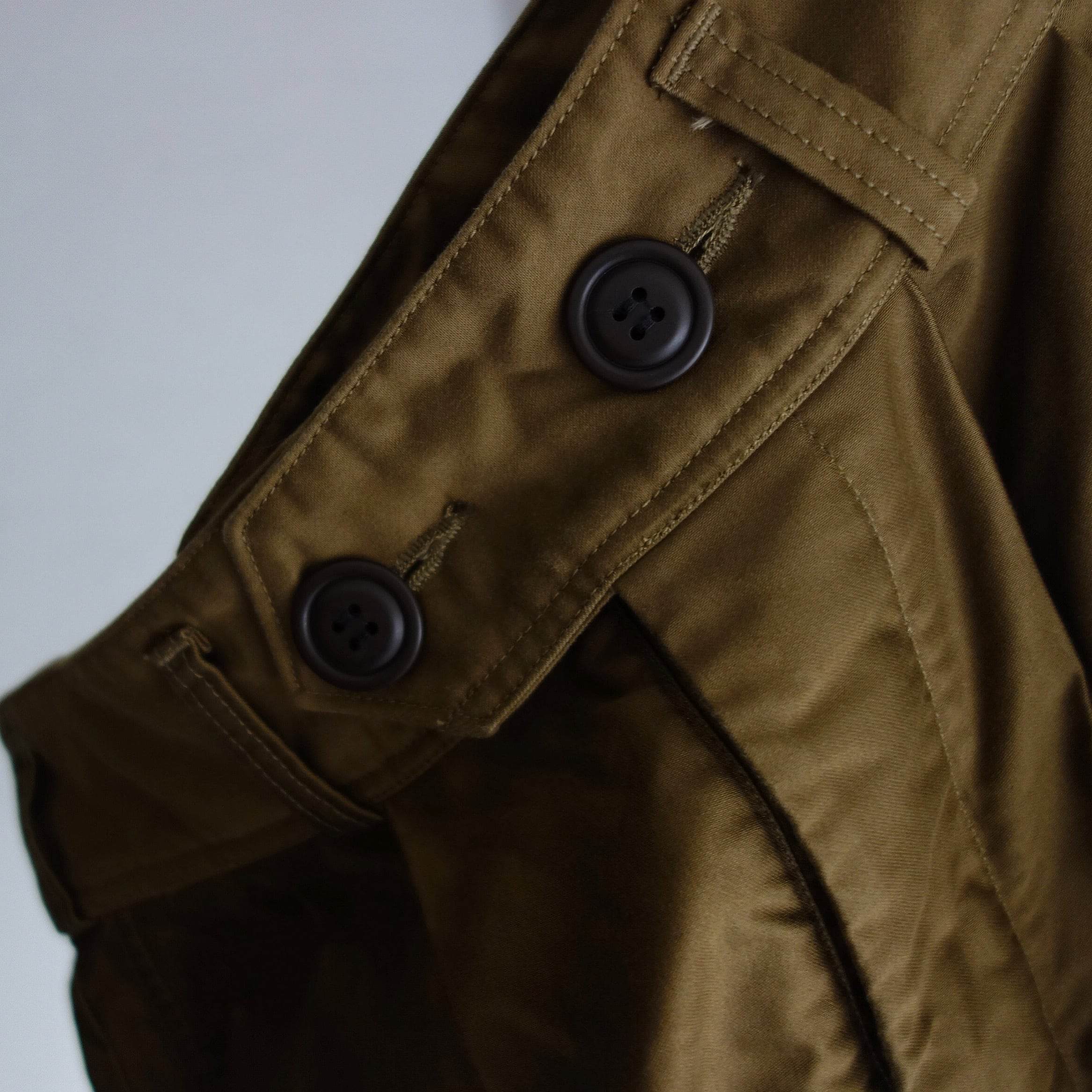 anotherline moleskin pleats widepants / darknuts