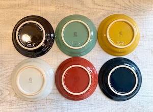 【波佐見焼】【藍染窯】【ステッチ】【プレート110】 波佐見焼 小皿 カラフル かわいい