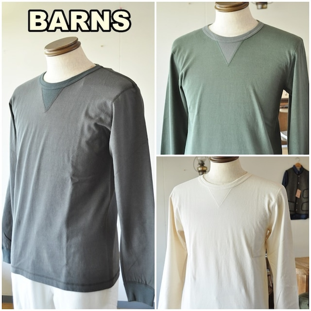 BARNS  バーンズ クルーネック ロンT 3043 ビンテージ  ロングスリーブ  クルーネック Vガゼット ユニオンスペシャル