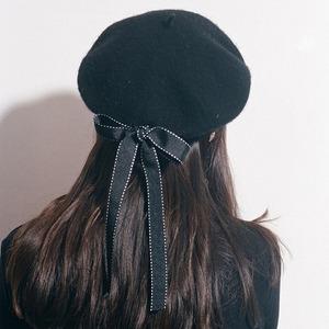 5619ベレー帽 フェルト ウール 冬 原宿 7色 黒 赤 ベージュ キャメル ブルー