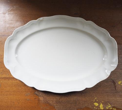 Sarreguemines(サルグミンヌ)花リム オーバル皿 大 B
