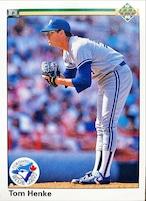 MLBカード 90UPPERDECK Tom Henke #282 BLUEJAYS