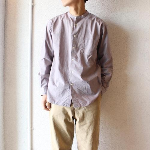 Manual Alphabet(マニュアル アルファベット)/  Loose Fit Bandcollar Shirts(ルーズフィット バンドカラーシャツ)シルバー