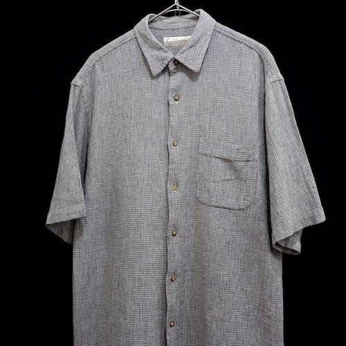 アメリカ古着 リネン ×  コットン S/S シャツ