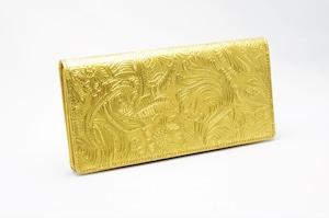 長財布(薄型)金箔・フラワー柄・プレミアム
