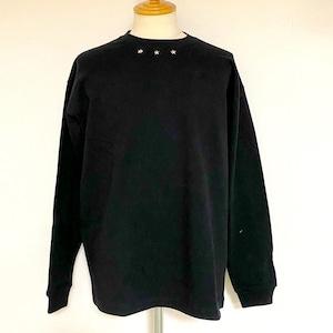 Star Studs Long Sleeve T-shirts Black