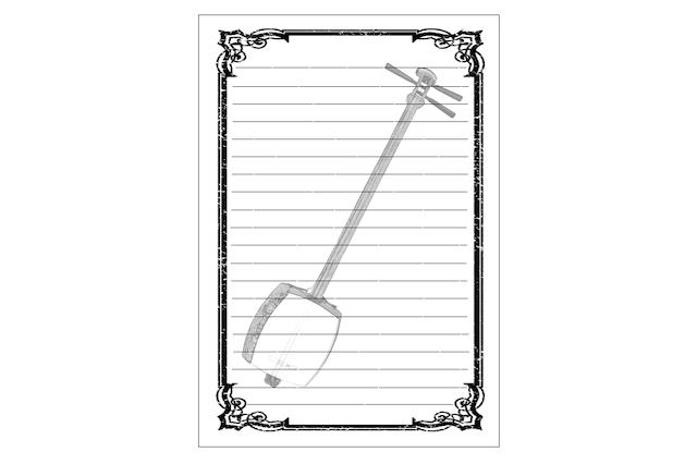 三味線のレターセット