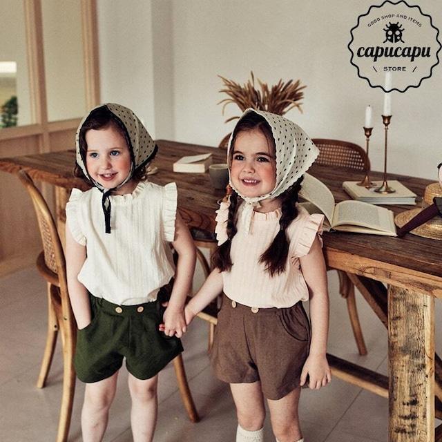 «即納»«pourenfant» lily blouse 2colors リリーブラウス