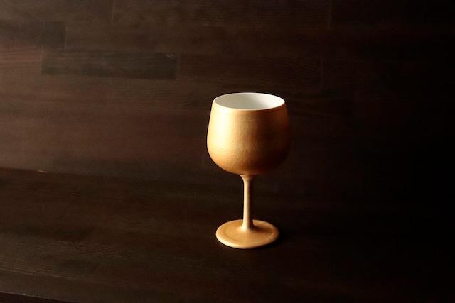 『聖杯の物語』『Gold Wine 陶Glass』 *金 万能 貴族 インスタ映え 贈り物 スリム ワイングラス プレゼント