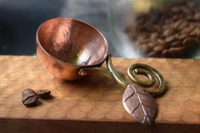 コーヒーメジャースプーン(柄:くるくる葉っぱタイプ) ※受注品