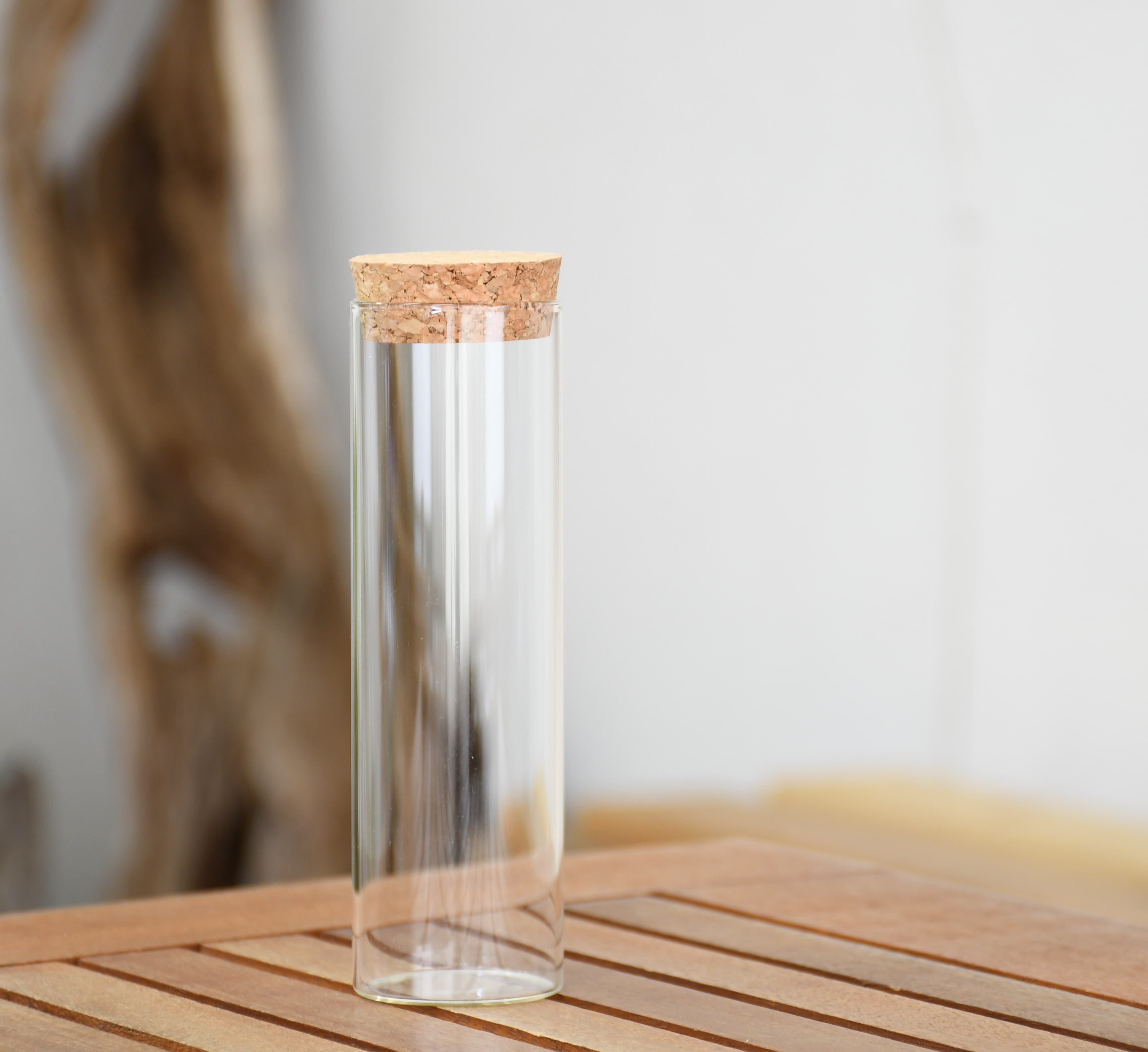 【ガラス容器】試験管 コルク栓付(直径40mm x h130mm)