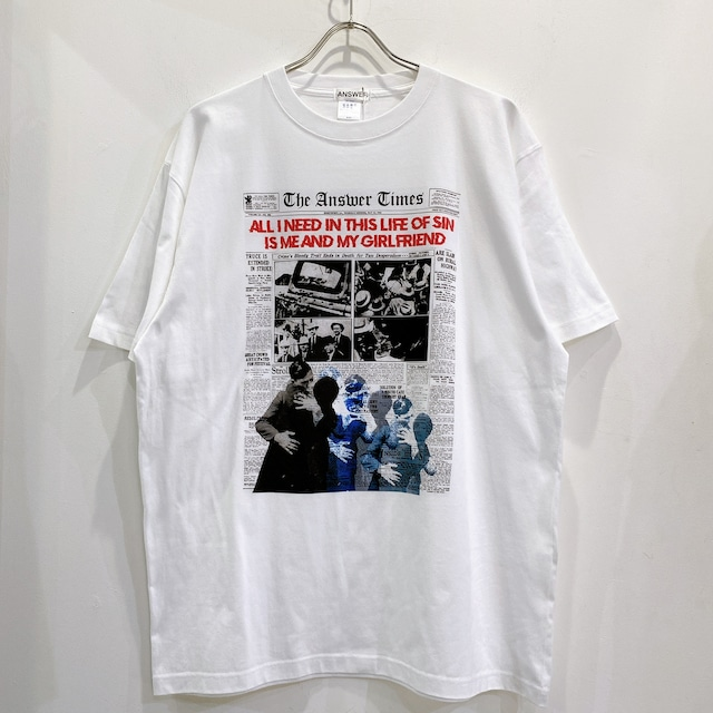 ANSWER COLLECTION / BONNIE & CLYDE NEWSPAPER TEE
